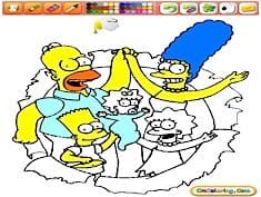 Coloring The Simpsons