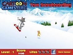 Tom Snowboarding
