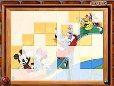Sort My Tiles Mickey and Friends in Roller Coaster