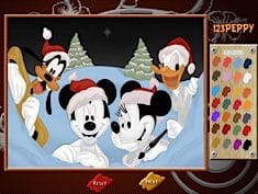 Mickey Family Online Coloring Page