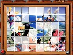 Sort My Tiles Mickey and Friends Paragliding
