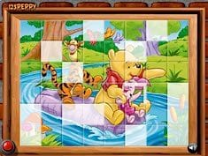Sort My Tiles Pooh Piglet and Tigger