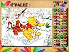 Winnie, Tigger and Piglet Colormath Game