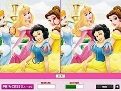 Disney Princess Find the Differences