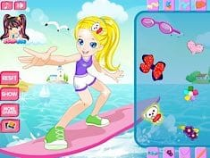Surfing with Polly Pocket