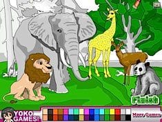 Animal Park Coloring