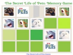The Secret Life of Pets Memory Game