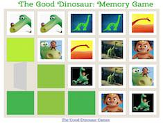 The Good Dinosaur Memory Game