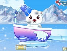 Pet Stars Fluffy Polar Bear