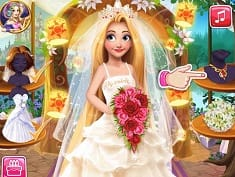 Blonde Princess Wedding Fashion