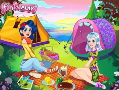 Crystal and Ava's Camping Trip