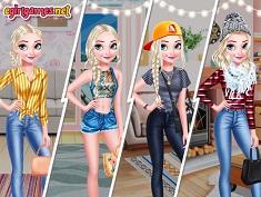 Elsa 4 Seasons Juego Online En Juegosjuegos
