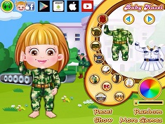 Baby Hazel Defense Officer Dressup