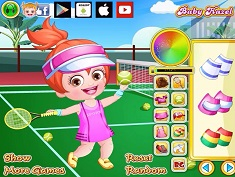 Baby Hazel As Tennis Dressup
