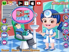 Baby Hazel As Dentist Dressup