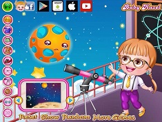 Baby Hazel As Astronomer Dressup