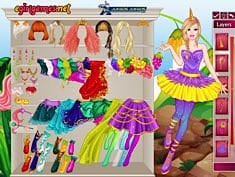 Barbie Unicorn Dress Up