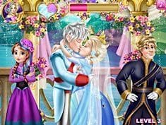 Elsa Wedding Kiss